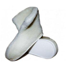 Тапочки теплушки высокие белые